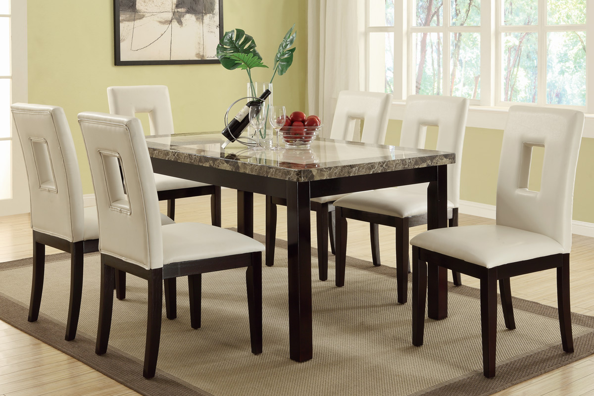 Casual Dining Set 7pcs F2093 Furniture Mattress Los Angeles And El Monte
