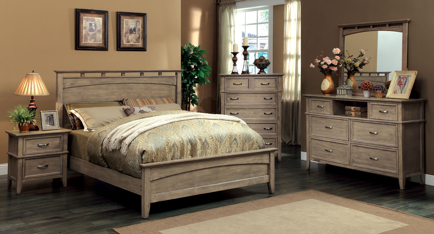 Loxley Cm7351 4pc Bedroom Set Furniture Mattress Los Angeles And