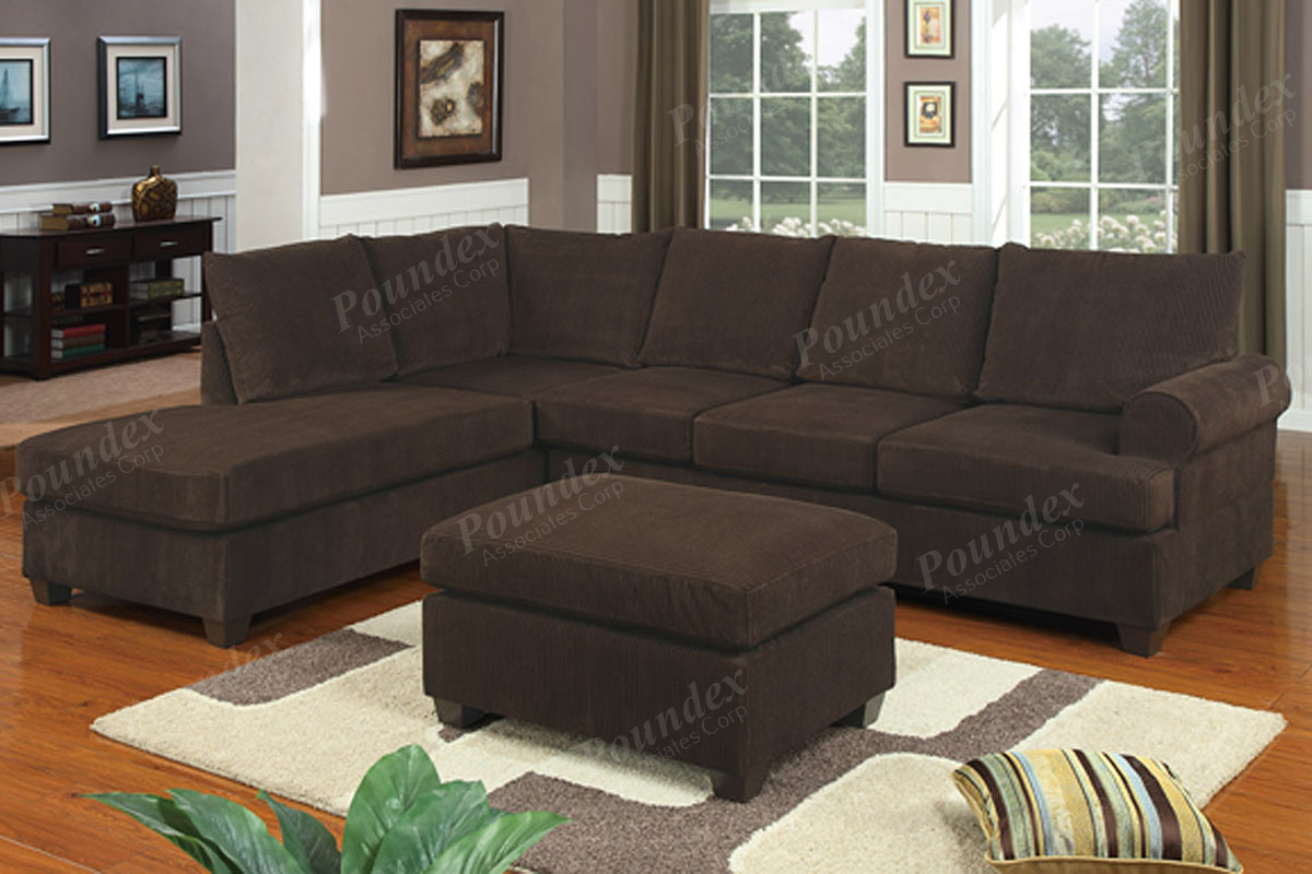 Sectional F7135 Chocolate Furniture, Sofas Under 400 Dollars