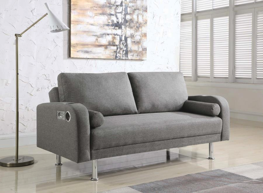 Upholstered Sofa Bed With Bluetooth